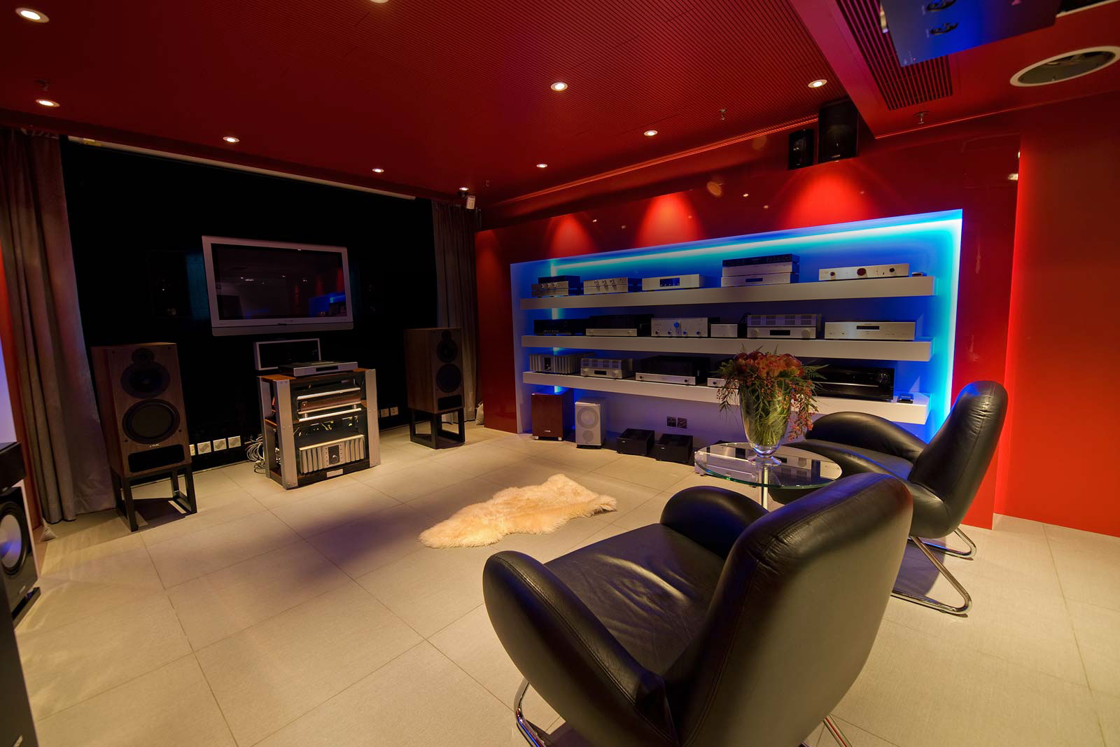 The Multimedia Room was designed as a versatile demo venue for the enjoyment of traditional as well as avant-garde entertainment in today's homes.